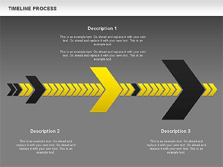 Timeline Process Diagram, Slide 11, 00671, Timelines & Calendars — PoweredTemplate.com
