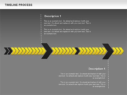 Timeline Process Diagram, Slide 12, 00671, Timelines & Calendars — PoweredTemplate.com
