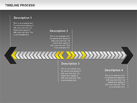 Timeline Process Diagram, Slide 13, 00671, Timelines & Calendars — PoweredTemplate.com