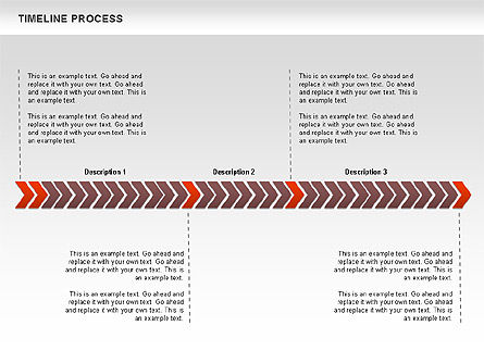 Timeline Process Diagram, Slide 2, 00671, Timelines & Calendars — PoweredTemplate.com
