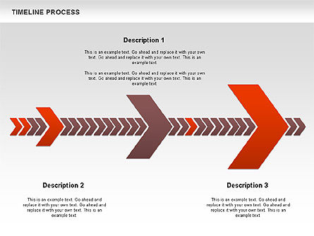 Timeline Process Diagram, Slide 3, 00671, Timelines & Calendars — PoweredTemplate.com