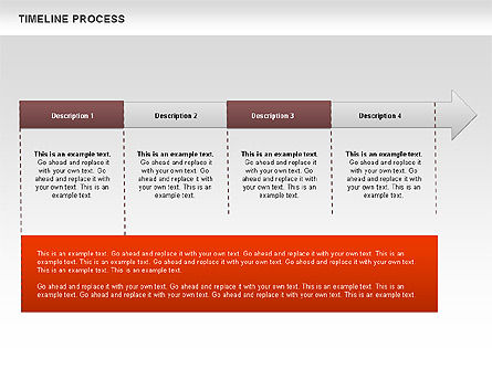 Timeline Process Diagram, Slide 4, 00671, Timelines & Calendars — PoweredTemplate.com