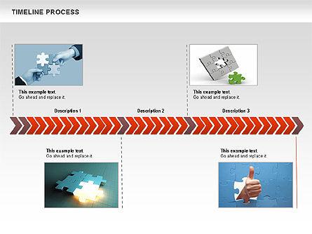 Timeline Process Diagram, Slide 5, 00671, Timelines & Calendars — PoweredTemplate.com