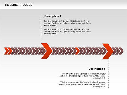 Timeline Process Diagram, Slide 6, 00671, Timelines & Calendars — PoweredTemplate.com
