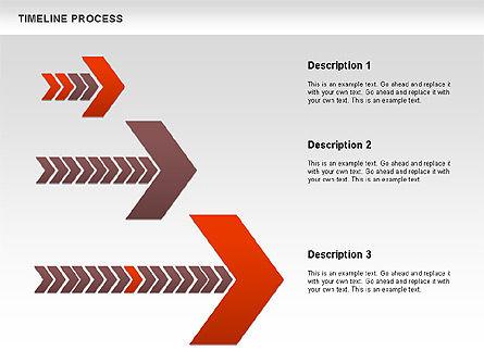 Timeline Process Diagram, Slide 7, 00671, Timelines & Calendars — PoweredTemplate.com
