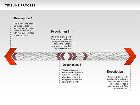 Timeline Process Diagram, Slide 8, 00671, Timelines & Calendars — PoweredTemplate.com