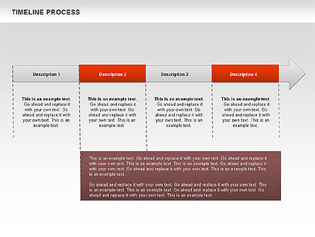 Timeline Process Diagram, Slide 9, 00671, Timelines & Calendars — PoweredTemplate.com