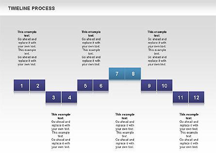 Blue Blocks Timeline Process Toolbox, Slide 10, 00673, Timelines & Calendars — PoweredTemplate.com