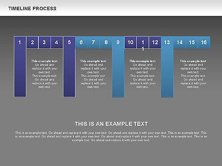 Blue Blocks Timeline Process Toolbox, Slide 12, 00673, Timelines & Calendars — PoweredTemplate.com