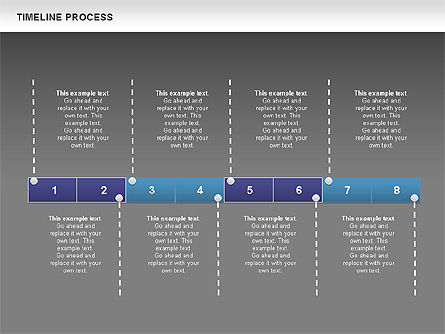 Blue Blocks Timeline Process Toolbox, Slide 13, 00673, Timelines & Calendars — PoweredTemplate.com