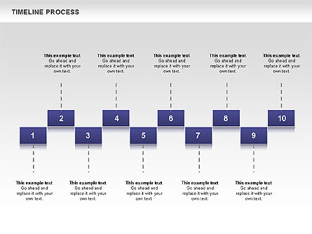 Blue Blocks Timeline Process Toolbox Slide 2