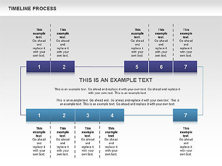 Blue Blocks Timeline Process Toolbox Slide 3
