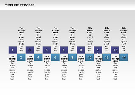 Blue Blocks Timeline Process Toolbox, Slide 4, 00673, Timelines & Calendars — PoweredTemplate.com