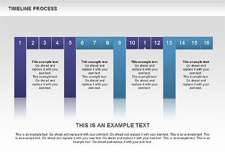 Blue Blocks Timeline Process Toolbox, Slide 5, 00673, Timelines & Calendars — PoweredTemplate.com