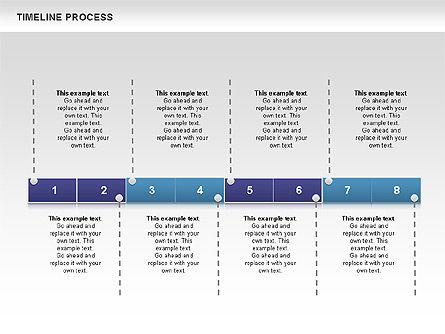 Blue Blocks Timeline Process Toolbox, Slide 7, 00673, Timelines & Calendars — PoweredTemplate.com