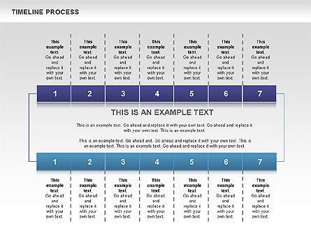 Blue Blocks Timeline Process Toolbox, Slide 8, 00673, Timelines & Calendars — PoweredTemplate.com