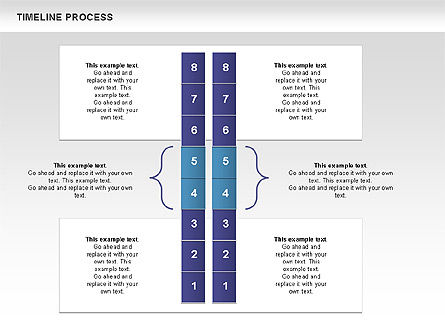 Blue Blocks Timeline Process Toolbox, Slide 9, 00673, Timelines & Calendars — PoweredTemplate.com