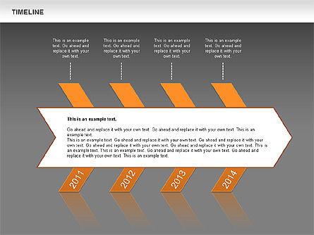 Chevron Timeline Diagram, Slide 12, 00674, Timelines & Calendars — PoweredTemplate.com