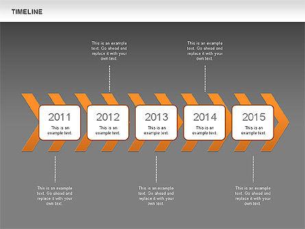 Chevron Timeline Diagram, Slide 13, 00674, Timelines & Calendars — PoweredTemplate.com