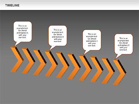 Chevron Timeline Diagram, Slide 14, 00674, Timelines & Calendars — PoweredTemplate.com