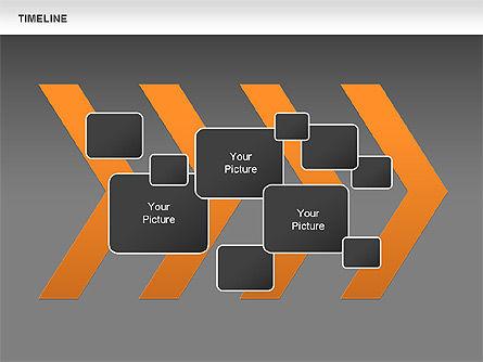Chevron Timeline Diagram, Slide 15, 00674, Timelines & Calendars — PoweredTemplate.com