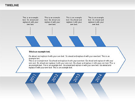 Chevron Timeline Diagram, Slide 2, 00674, Timelines & Calendars — PoweredTemplate.com