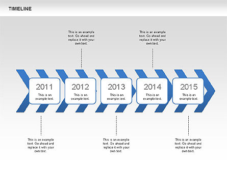 Chevron Timeline Diagram, Slide 3, 00674, Timelines & Calendars — PoweredTemplate.com