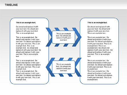 Chevron Timeline Diagram, Slide 4, 00674, Timelines & Calendars — PoweredTemplate.com