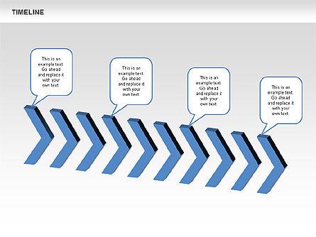 Chevron Timeline Diagram, Slide 5, 00674, Timelines & Calendars — PoweredTemplate.com