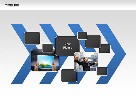 Chevron Timeline Diagram, Slide 6, 00674, Timelines & Calendars — PoweredTemplate.com
