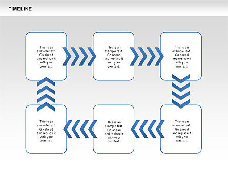 Chevron Timeline Diagram, Slide 7, 00674, Timelines & Calendars — PoweredTemplate.com