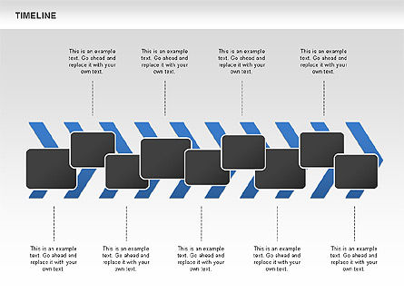 Chevron Timeline Diagram, Slide 9, 00674, Timelines & Calendars — PoweredTemplate.com