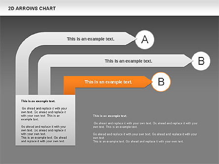 Arrows Efficiency Chart, Slide 14, 00677, Shapes — PoweredTemplate.com