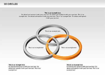 3D Circles, 00678, Shapes — PoweredTemplate.com