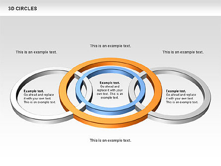 3D Circles, Slide 10, 00678, Shapes — PoweredTemplate.com