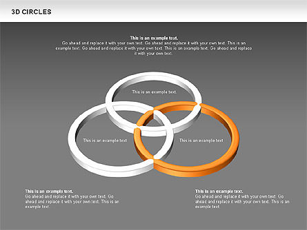 3D Circles, Slide 11, 00678, Shapes — PoweredTemplate.com
