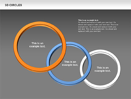 3D Circles, Slide 12, 00678, Shapes — PoweredTemplate.com