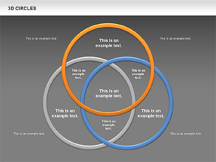 3D Circles, Slide 13, 00678, Shapes — PoweredTemplate.com