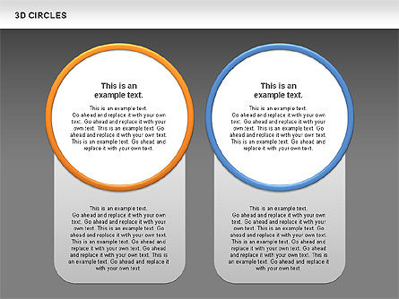 3D Circles, Slide 14, 00678, Shapes — PoweredTemplate.com