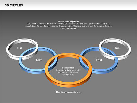 3D Circles, Slide 15, 00678, Shapes — PoweredTemplate.com