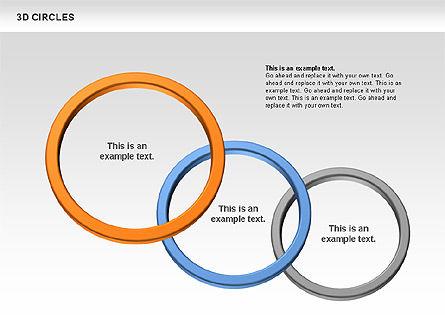 3D Circles, Slide 2, 00678, Shapes — PoweredTemplate.com