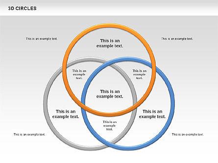 3D Circles, Slide 3, 00678, Shapes — PoweredTemplate.com