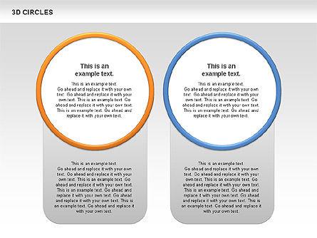3D Circles, Slide 4, 00678, Shapes — PoweredTemplate.com