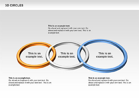 3D Circles, Slide 5, 00678, Shapes — PoweredTemplate.com