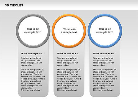3D Circles, Slide 6, 00678, Shapes — PoweredTemplate.com