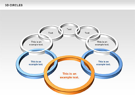 3D Circles, Slide 7, 00678, Shapes — PoweredTemplate.com