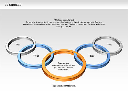 3D Circles, Slide 9, 00678, Shapes — PoweredTemplate.com