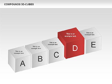 Compound 3D Cubes, Slide 10, 00679, Shapes — PoweredTemplate.com