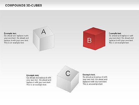 Compound 3D Cubes, Slide 11, 00679, Shapes — PoweredTemplate.com