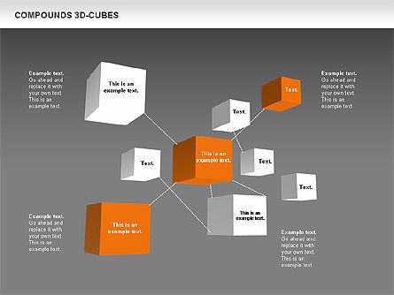 Compound 3D Cubes, Slide 12, 00679, Shapes — PoweredTemplate.com